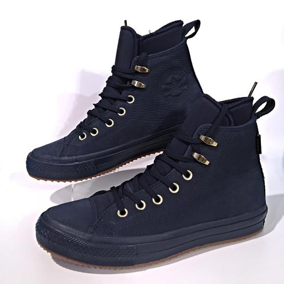 568002419535 Women s Converse CTAS Waterproof Boots Navy New